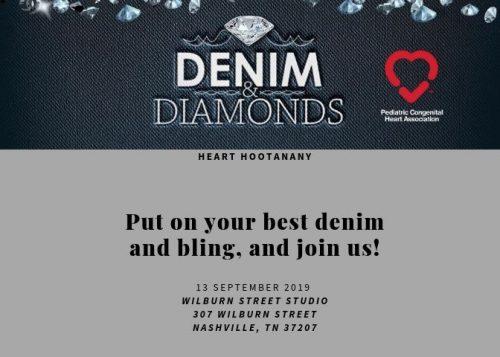 Denim & Diamonds Heart Hootanany