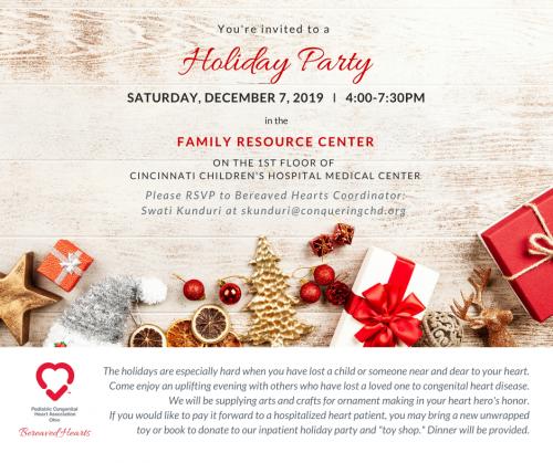 PCHA-OH Bereaved Hearts Holiday Party
