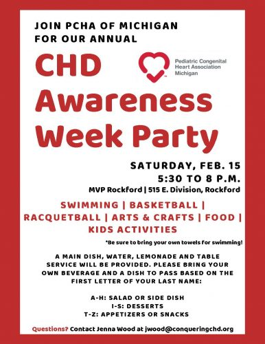 8th Annual CHD Awareness Week Party