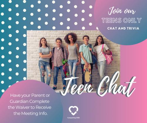 Virtual Teen CHD Chat