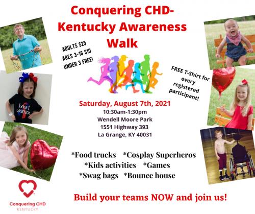 Conquering CHD- Kentucky Awareness Walk